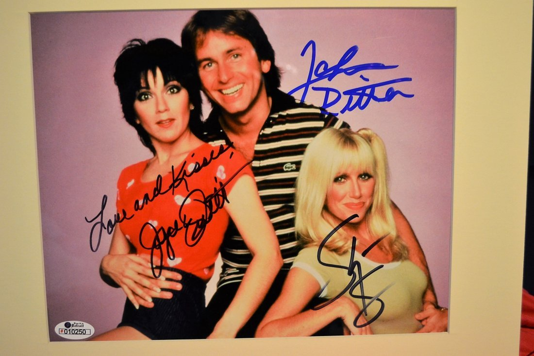 Threes Company Sign Photo, Threes Company Autograph