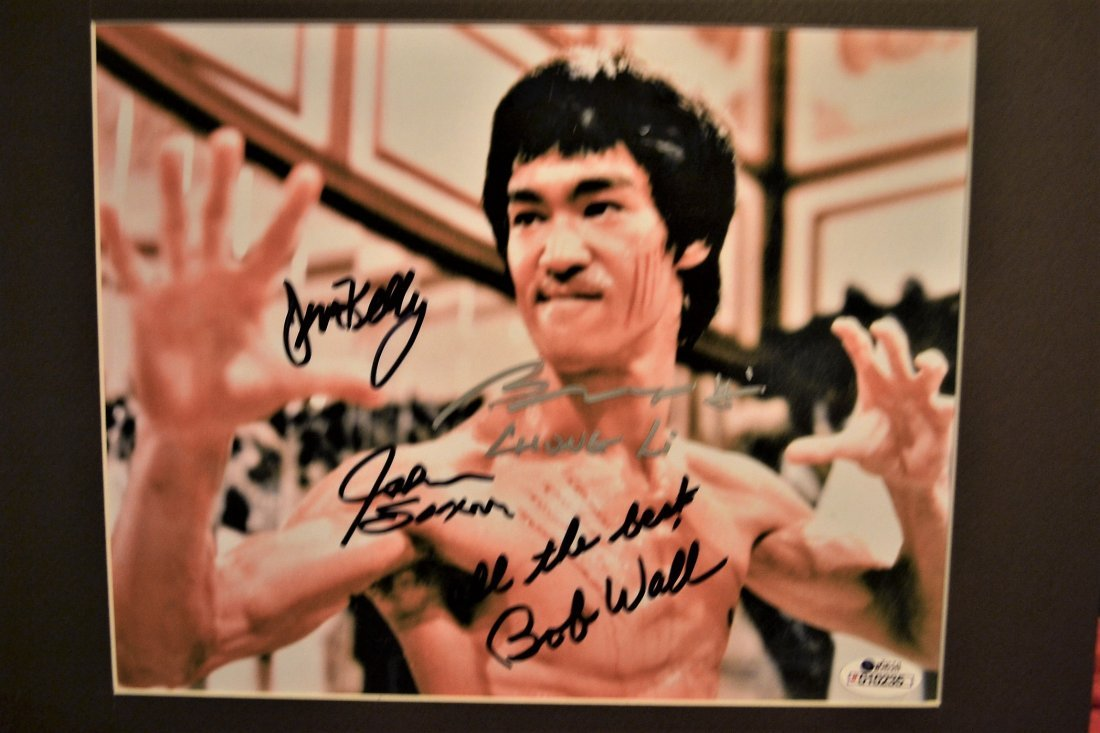 Bruce Lee Game of Death cast sign Photo