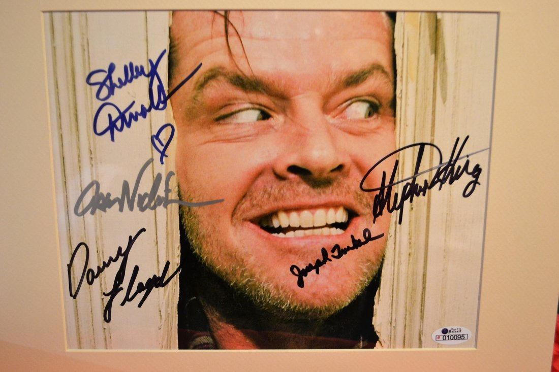 The Shinning Cast Autograph Photo, Steven King Sign