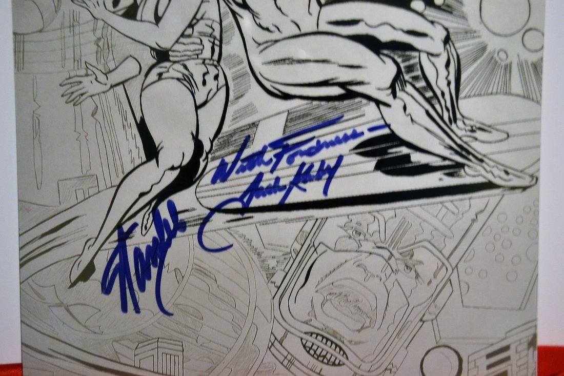 Stan Lee and Jack Kiby Sign Silver Surver Art,Animation - 2