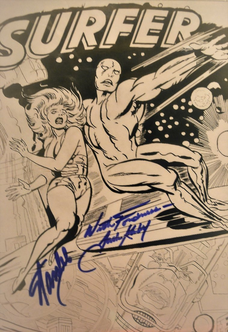 Stan Lee and Jack Kiby Sign Silver Surver Art,Animation - 3