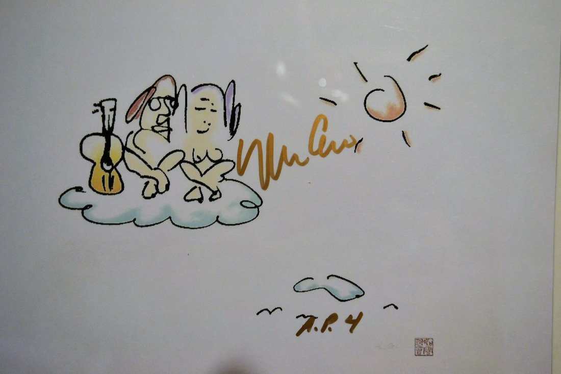 John Lennon Art Work , John Lennon Yoko Ono sign Art