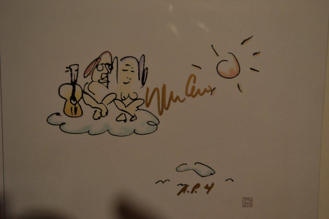 John Lennon Art Work , John Lennon Yoko Ono sign Art - 2