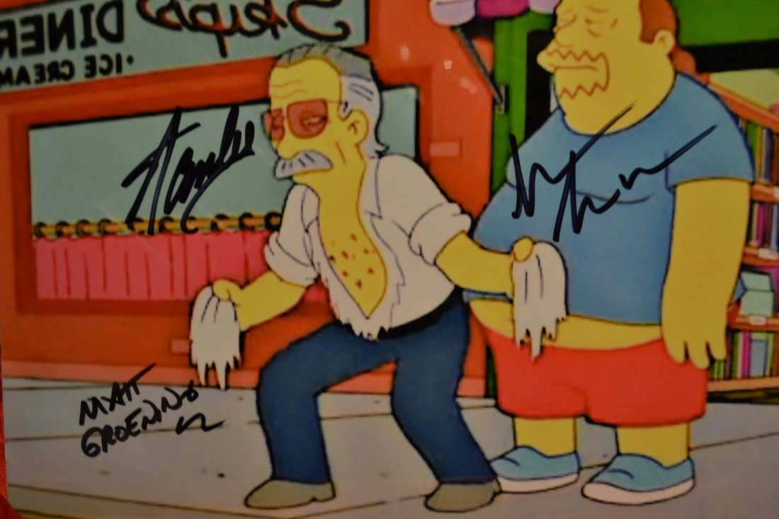 Stan Lee The Simpsons Animation Cell , Stan Lee Art - 3
