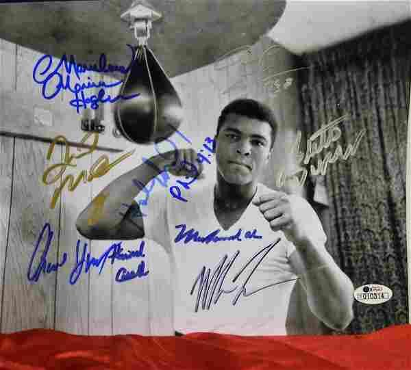 Boxing Greats Autograph Photo, M Ali Sign Photo, Boxing