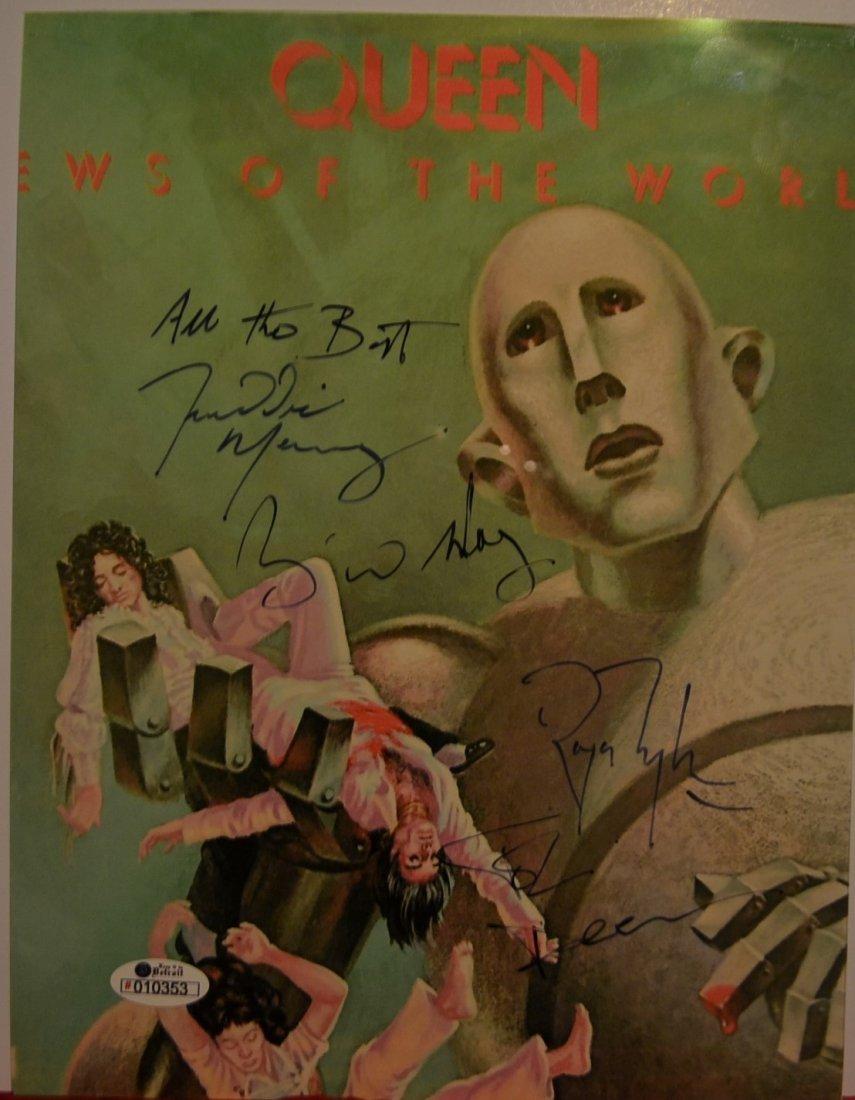 Queen Autograph Photo, Queen Sign Photo. Freddy Mercury - 2