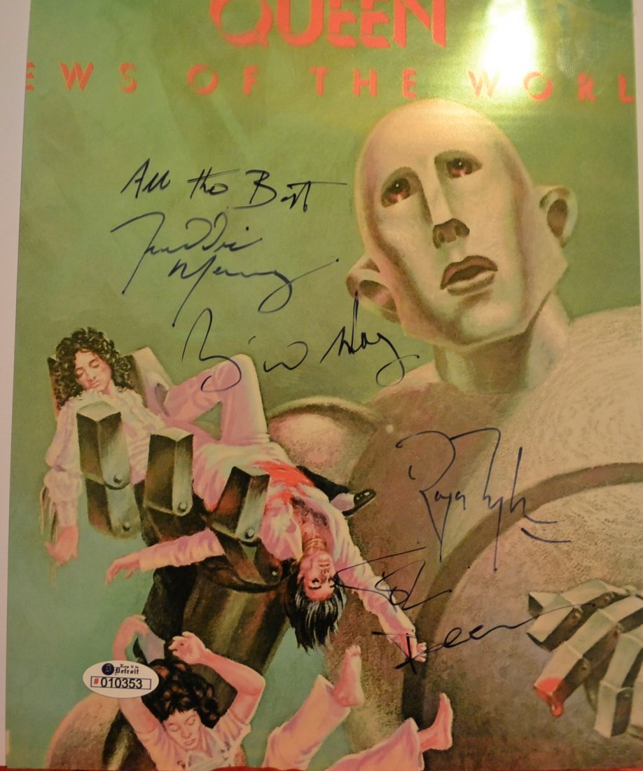 Queen Autograph Photo, Queen Sign Photo. Freddy Mercury - 3