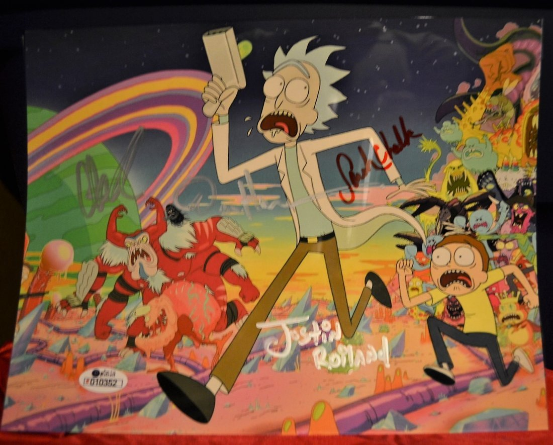 Rick and Morty Sign Cell, Rick and Morty Animation Art