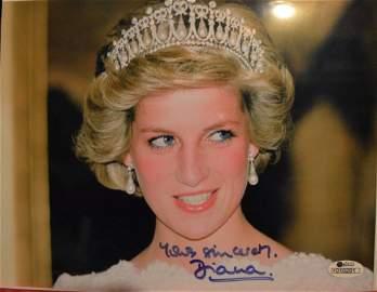 Princess Diana Sign Photo, Princess Diana Autograph Pic