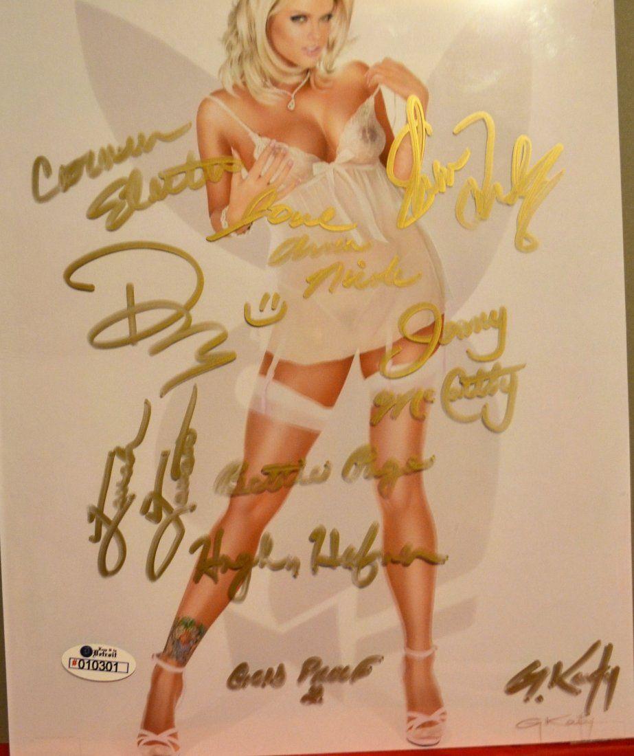 Playboy Autograph Photo , Anna Nicole Sign Playboy .