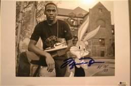 Michael Jordan Autograph Bugs Bunny Cel ,Michael Jordan