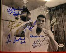 Boxing Greats Autograph, Mike Tyson, Muhammad Ali Sign