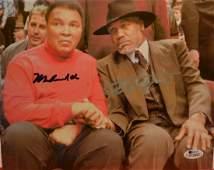 Ali and Frazier Autograph Photo, M Ali Autograph
