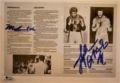 Muhammad Ali and Lyle Alzado Autograph , Ali Sign Photo