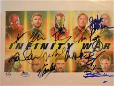 Marvel Autograph Cast , Infinity War Sign Cast Photo