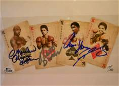 Boxing Greats Autograph , the 4 kings Sign photo