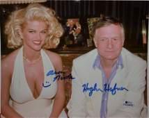 Anna Nicole Hugh Hefner Autograph Playboy , Autograph