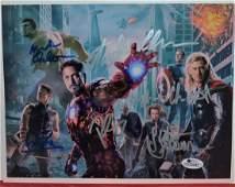 The Avengers Autograph Cast  Stan Lee Sign Marvel