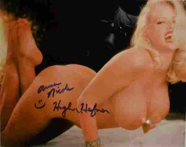 Anna Nicole Playboy Nude Autograph Hugh Hefner