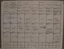 2Pac Studio Sheet , 2Pac Geffen Written deal , 2Pac