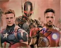 Captain America Autograph  Iron Man Sign Photo