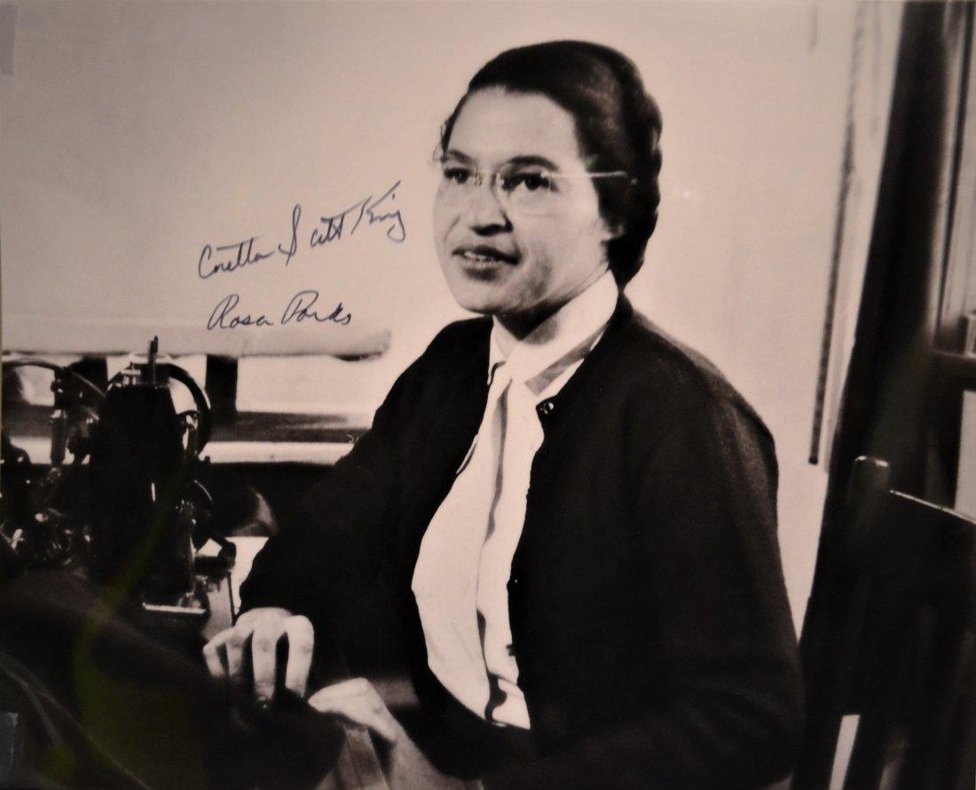 Rosa Parks Autograph Photo, Coretta Scott King Sign