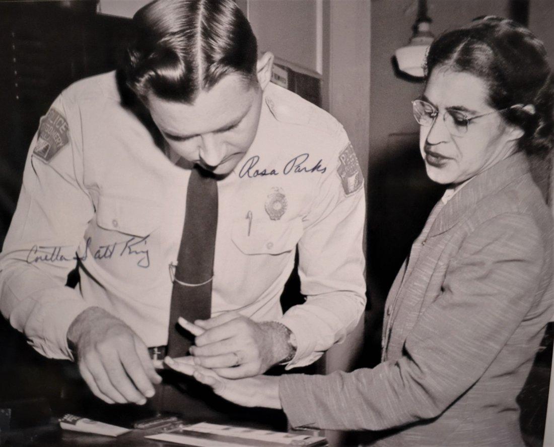 Rosa Parks Autograph Photo , Coretta scott King Sign