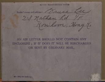 Bruce Lee Autograph Letter , Bruce Lee Hand Written