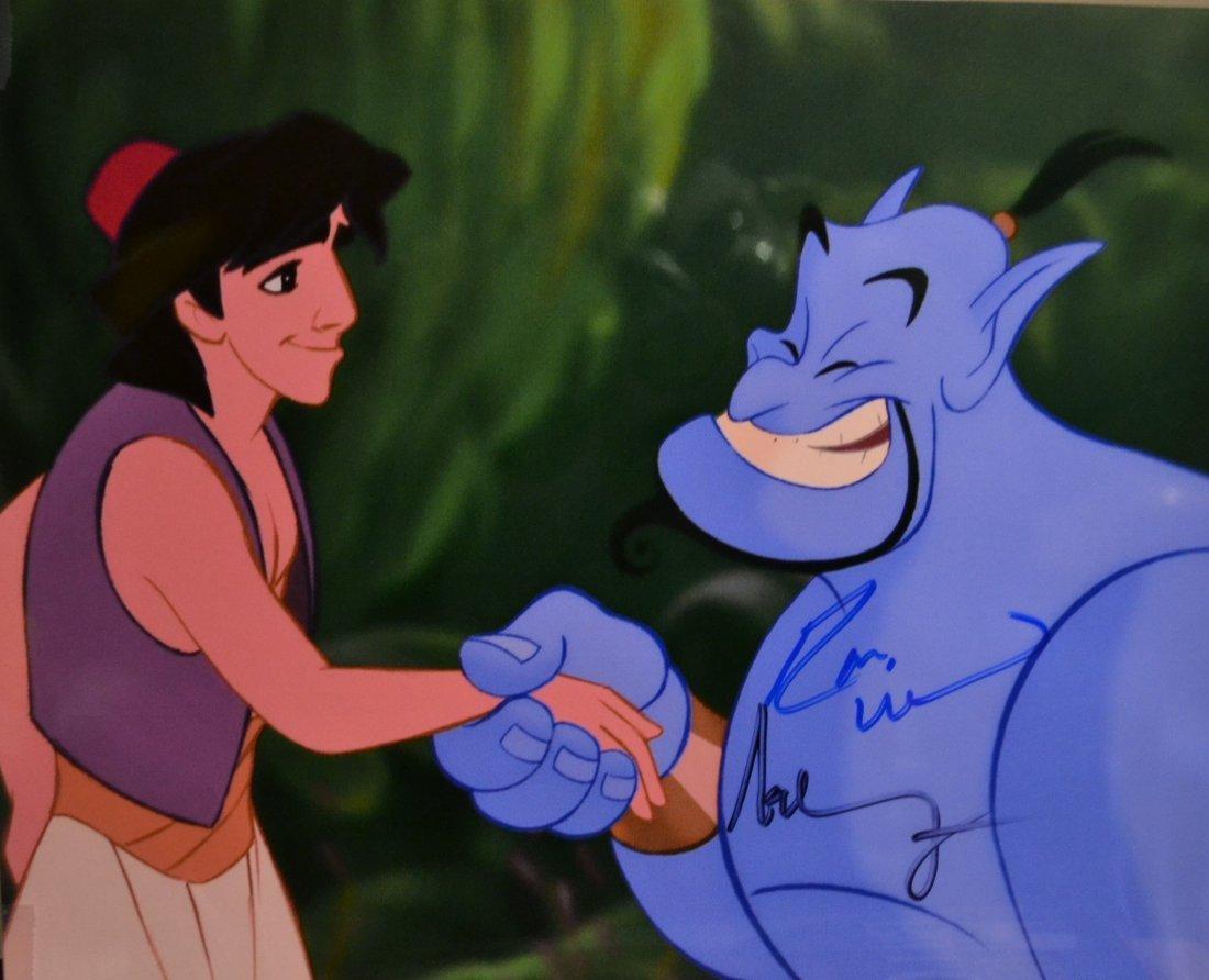 Robin Williams Aladdin Autograph Photo , Robin Williams