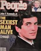 John F Kennedy Jr Autograph Photo, John F Kennedy Jr