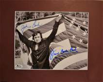 Johnny Cash Autograph , Johnny Cash American Flag Sign