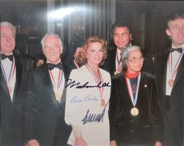 Muhammad Ali, Rosa Parks ,Donald Trump Sign photo