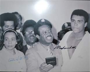 Muhammad Ali and Coretta Scott King Autograph Photo