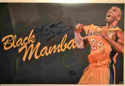 Kobe Bryant Autograph Photo , Kobe Bryant Sign Photo