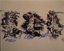 Kobe Bryant Autograph Photo  Lebron James  Kevin D
