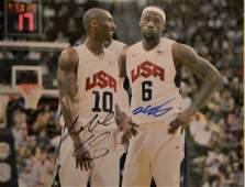 Kobe Bryant Autograph USA Sign  Lebron James sign