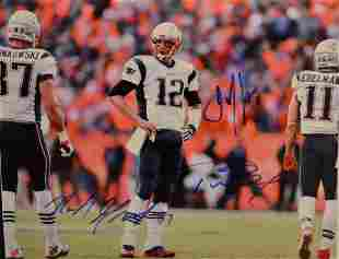 Tom Brady Autograph Photo New England Tom Brady Sign