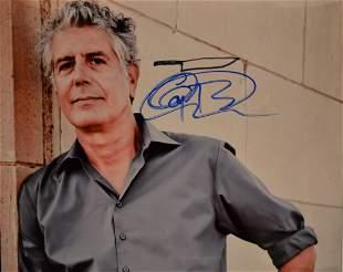 Anthony Bourdain Autograph Photo Anthony Bourdain Sig