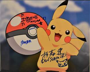 Pokemon Autograph Pikachu Pikachu Sign Pokemon