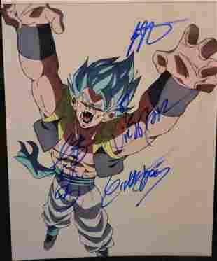 Dragon Ball Z Autograph Photo DBZ Vegeta Sign Photo
