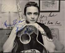 Country Stars Autograph  Kenny Rogers  Johnny Cash