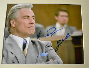 John Travolta John Gotti Autograph Photo Kelly Preston
