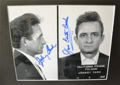 Johnny Cash Autograph Mug shot Photo