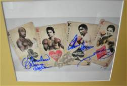 Boxing Greats Autograph , The 4 Kings Autograph Boxing