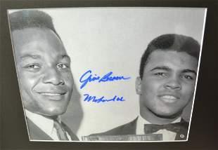 Jim Brown Ali Sign Photo Ali Autograph Photo