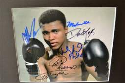 Boxing Greats , Heavy Weight Autograph Photo Ali Sign