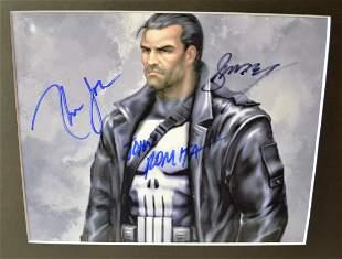 Punisher Autograph cast Punisher Sign Photo