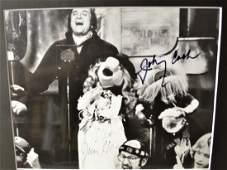 Johnny Cash the Muppets Autograph Photo  johnny Cash
