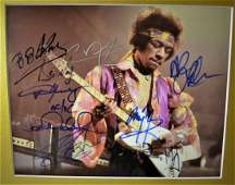 Rock and Roll hall of fame Guitar Autograph Photo