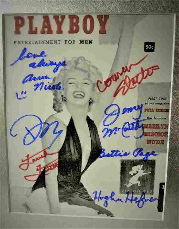 Playboy Autograph Photo, Playboy Sign Photo